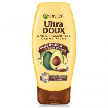 Ultra Doux Après-Shampooing Nutrition Intense à l'Huile d'Avocat et Beurre de Karité